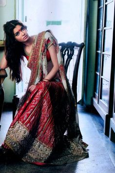 sabyasachi - red and green lengha