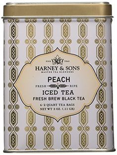 Harney  Sons Fine Teas Peach Iced Tea  6  Tin *** Check out this great product.