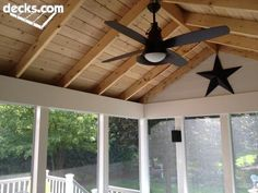 Timber Tech composite deck and a Timber Tech expree rail screened porch
