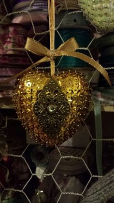 My latest addition ... polystyrene and sequin bauble with a moroccan twist