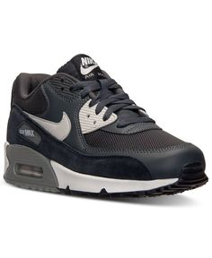 4bd6e236e4 Nike Men's Air Max 90 Essential Running Sneakers from Finish Line & Reviews  - Finish Line Athletic Shoes - Men - Macy's