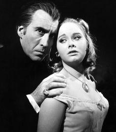 Christopher Lee and Linda Hayden in 'Taste the Blood of Dracula', 1970