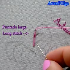 Hand Embroidery Videos, Embroidery Stitches Tutorial, Embroidery Flowers Pattern, Crewel Embroidery, Hand Embroidery Designs, Creative Embroidery, Simple Embroidery, Diy Bordados, Learning To Embroider