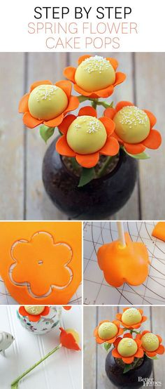 Spring Flower Cake Pops Pop your baking hat on and grab our recipe to whip up these adorable cake pop bloom treatsthe perfect spring dessert for adults or kids. The post Spring Flower Cake Pops appeared first on Ideas Flowers. Cake Pop Bouquet, Flower Cake Pops, Flower Cakes, Cakepops, Mini Cakes, Cupcake Cakes, Cake Surprise, Cake Pop Designs, Kreative Desserts