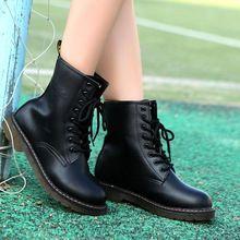 Boots cổ ngắn nữ đế bằng, kiểu dáng năng động trẻ trung, mẫu mới