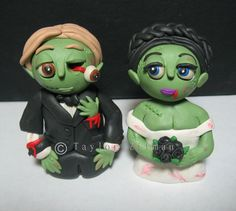 Zombie Wedding Cake Toppers.