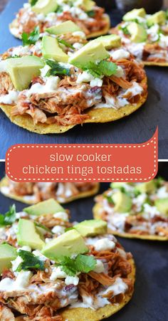 Simple and delicious dinner with almost no effort. 3 ingredients and 4 hours in a crock pot and dinner is done. Use this salsa chicken to top tostadas, fill tacos, or be the star ingredient in burrito bowls.
