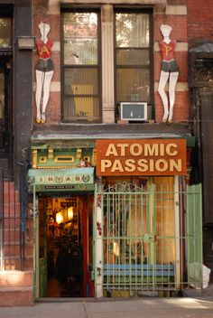 Atomic Passion, vintage store in NYC's East Village for the better part of two decades. Closed in 2010.
