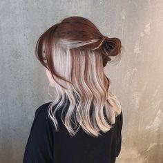 Hair Color Streaks, Hair Dye Colors, Cool Hair Color, Hair Highlights, Platinum Highlights, Hair Inspo, Hair Inspiration, Hair Color Underneath, Peekaboo Hair