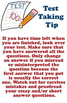 test taking tips essay questions