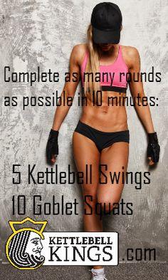 kettlebell workout.