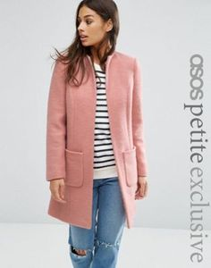 ASOS PETITE Exclusive Pretty Coat in Wool Mix