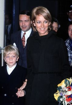 Princess (now Queen) Paola of Belgium, her eldest son Philippe the future King