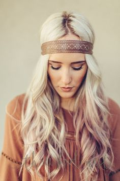 Scalloped Leather Headband by Three Bird Nest | Bohemian Clothing