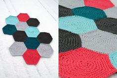 hexagon crochet: has to be translated, but i could probably figure it out.  actual link: http://bambulablogi.blogspot.fi/2011/12/kuusikulmion-virkkausohje.html