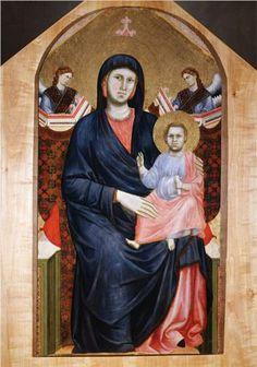 Giotto  Madonna and Child   1295-1300  San Giorogio alla Costa, Fiorence, Italy