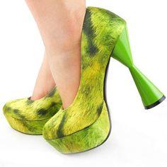 Green Bristle effect platform shoe , 10% off ending tonight.