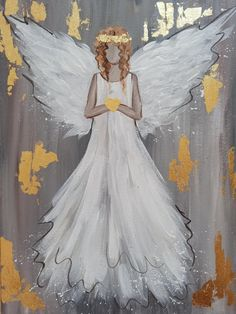 Easy Canvas Art, Easy Canvas Painting, Love Painting, Painting Abstract, Framed Canvas, Angel Wings Painting, Angel Drawing, Angel Art, Art Nouveau