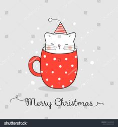 Find Draw Vector Illustration Character Cute Cat stock images in HD and millions of other royalty-free stock photos, illustrations and vectors in the Shutterstock collection. Christmas Card Sayings, Christmas Doodles, Christmas Drawing, Diy Christmas Cards, Christmas Cats, Christmas Pictures, Xmas Cards, Christmas Jesus, Christmas Wishes Messages