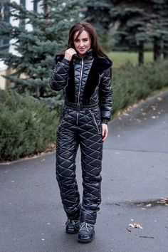 winter ski suit shiny nylon womens overall skioverall skianzug glanznylon damen winter suit. Black Bedroom Furniture Sets. Home Design Ideas