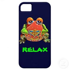 Funky Funny Colorful Frog RELAX iPhone 5 Case