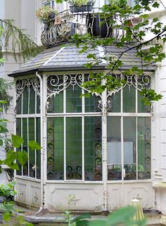 victorian sunroom or conservatory, wiesbaden, germany