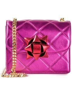 I need this!!! Marc Jacobs Mini 'metallic Party Bow Trouble' Crossbody Bag - Stefania Mode - Farfetch.com