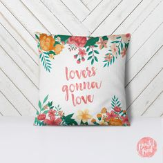 Lovers Gonna Love Pastel Flowers - Throw Pillow Case, Pillow Cover, Home Decor - Blue Throw Pillows, Throw Pillow Cases, Pillow Covers, Funny Pillows, Pastel Flowers, Pillow Cover Design, Etsy Crafts, Kids Decor, Holiday Gifts