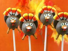 Turkey Cake Pops via candiquik.com