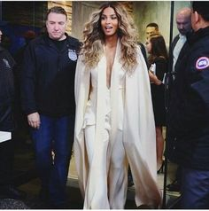 The post Hot! or Hmm…: Ciara's Good Morning America Juan Carlos Obando Fall '16 Ivory Cape and Jumpsuit appeared first on Fashion Bomb Daily Style Magazine: Celebrity Fashion, Fashion News, What To We