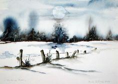 'Winter im Moor' von Maria Inhoven bei artflakes.com