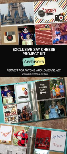 Make tons of great Disney projects with this kit you'll only find at Archiver's while supplies last!