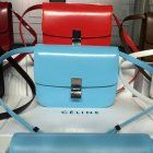 Free Shipping !Cheap 2015 Celine Bags Outlet-Celine Classic Bag in Sky Blue Slick-surfaced Leather