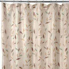 Famous Home Fashions Shadow Leaf Shower Curtain-3590 at The Home Depot