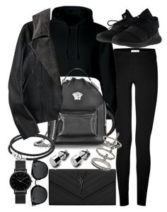 """Untitled #20837"" by florencia95 ❤ liked on Polyvore featuring Helmut Lang, adidas, Yves Saint Laurent, Versace, Pandora, Miss Selfridge and ROSEFIELD"