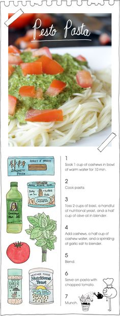 The Vegan Stoner's pesto pasta. Repinned from Vital Outburst clothing vitaloutburst.com