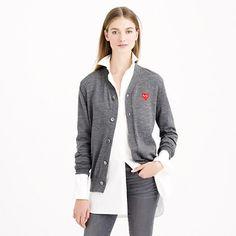 4c52ed04e95d PLAY Comme des Garçons® merino wool cardigan sweater