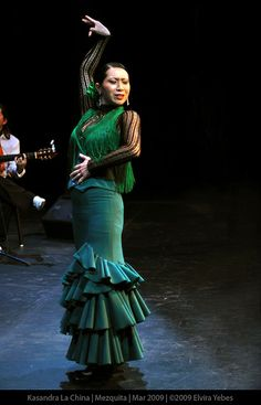 Kasandra la China, #flamenco #dancer May 2009 by Elvira Yebes.