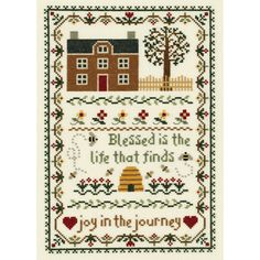 JANLYNN-Counted Cross Stitch Kit. Creative designs and quality products are put in to each of Janlynn's kits. This kit contains 14 count cream Aida; 6-strand 100% cotton floss; needle; graph; and instructions.