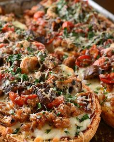 Roasted Veggie and Sausage French Bread Pizza Recipe