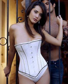 Bridal Stripe White Satin Underwear Women Corset Body Shaper Slimming Push  Up Corsets et Bustiers Sexy Victorian Gothic Clothing 4fdd2723e