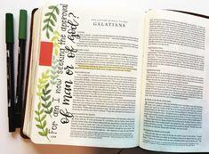 ♡ on pinny, on insta ♡ My Bible, Bible Art, Bible Scriptures, Faith Bible, Book Of Galatians, Cute Bibles, New Testament Bible, Illustrated Faith, Walk By Faith