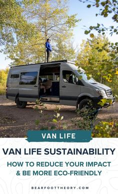 Is van life sustainable? Check out this blog post for environmentally-friendly tips on how to reduce your impact as an eco-friendly van lifer! Diy Camper, Truck Camper, Camper Van, Bus Life, Road Trip Hacks, Sprinter Van, Ways To Travel, Water Tank, Outdoor Gear