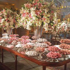Wedding Decoracion Indian 68 Ideas For 2019 Elegant Wedding, Floral Wedding, Wedding Bouquets, Wedding Flowers, Floral Centerpieces, Floral Arrangements, Flower Decorations, Wedding Decorations, Pink Candy Buffet