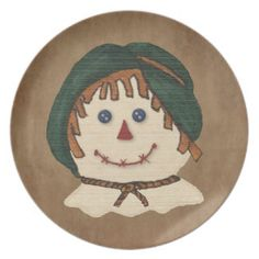 Scarecrow Plate by MousefxArt.Com (Mouse Country Store)