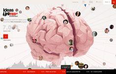 TEDx - Interactive Brain by Dave Fransz, via Behance