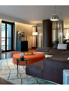 The Bulgari Hotel in Knightsbridge, London; almost every detail in the Italian brand's 85-room luxury complex is designed to remind guests that this is indeed the house that Bulgari built