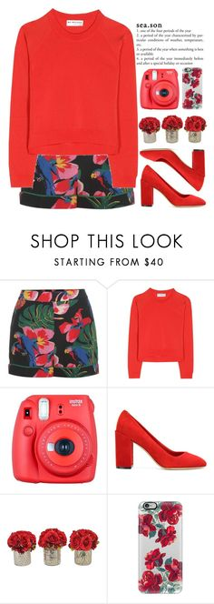 """Loving him was red."" by annaclaraalvez ❤ liked on Polyvore featuring Valentino, Balenciaga, Fuji, Salvatore Ferragamo, The French Bee and Casetify"