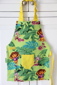 Dora the Explorer Smock Child Apron Dora Gift Dora by ToddleSmocks