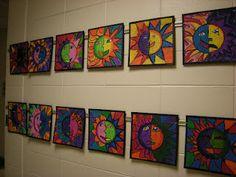 Cute Aztec suns...